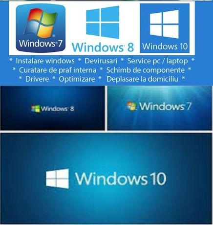 Instalare windows, service laptop , calculator , inginer cu experienta