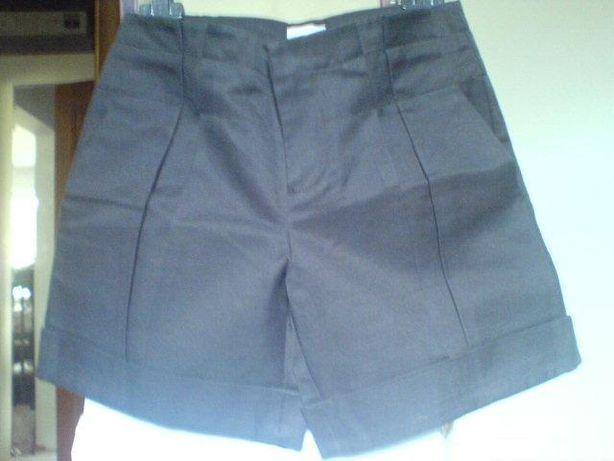pantalon scurt Stefanel, nou, smart casual, S, negru intens si crem