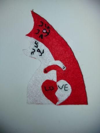 """Magnet """"Pisicuțe îndrăgostite"""" (cadou Valentine's Day)"""