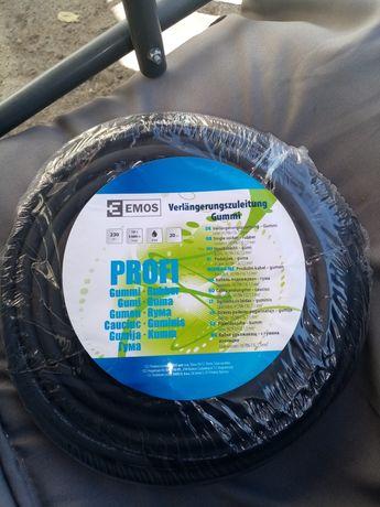 Cablu prelungitor- cauciucat conductor 1,5mm, 20 m si maxim 3680w buc.