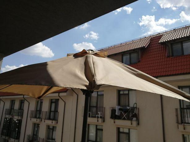Umbrela balcon,gradina + suport umbrela