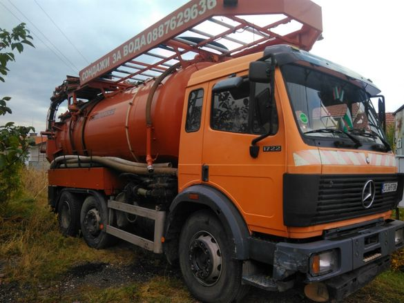 Комбиниран камион за почистване на шахти и продухване на канали