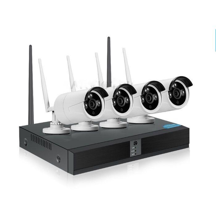 Безжично Видео Наблюдение с 4 Full HD Камери