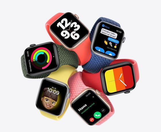 Новые!!! Apple Watch SE 44 mm 40 мм / Смарт Фитнес умные часы Доставка