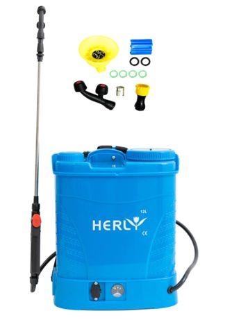 Pompa de stropit cu acumulator vermorel HERLY 12 litri, 5 bar,albastra