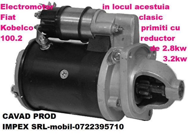 Electromotor cu reductor pentru Kobelco la 12v,bendix 10 dinti
