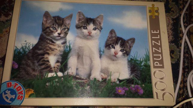 Puzzle pisici 500 piese