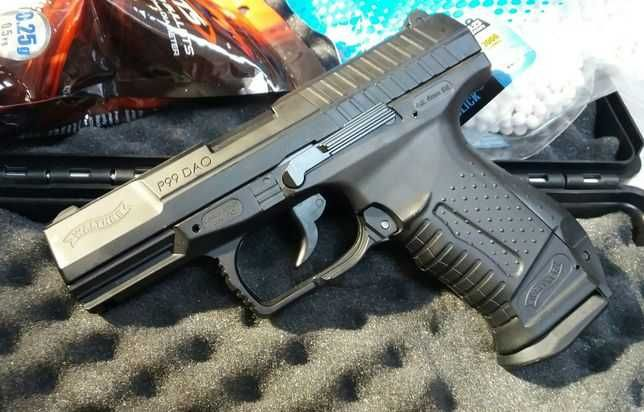 Pistol Airsoft Walther P99=> 4,6j 6mm+Bile/Co2