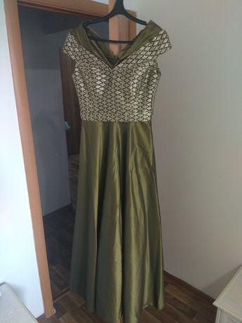 Платье турецкое, оливкового цвета