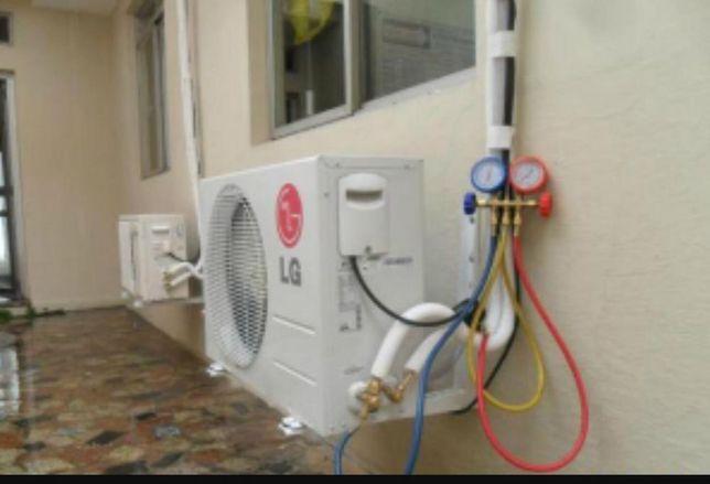 Incărcare cu freon aer condiționat R410A,R22(422), R 32 si R407C