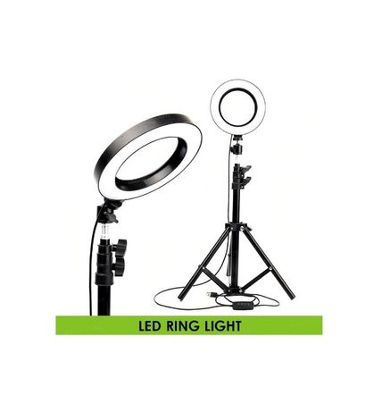 Lampa LED video 16cm cu stativ ring light stand youtube vlog make-up