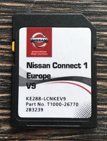 NISSAN Connect 1 (LCN1) V9 MAPS SD CARD 2020 сд карта Нисан Навигация
