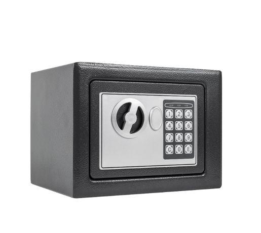 Seif mini HS1 electronic cu cheie tip SOS - 165x225x130 mm