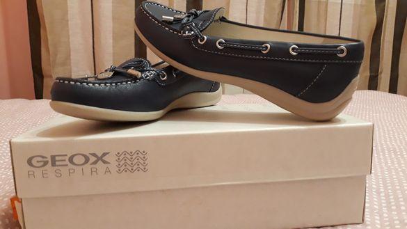 Нови Дамски Обувки GEOX -тъмно сини Мокасини номер,36