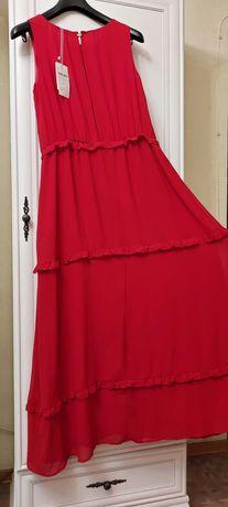 SELA. Шифоновое платье макси.