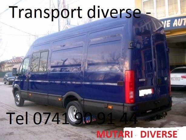 Transport marfa bagaje Mutari mobila Relocari Debarasari Ridic moloz .
