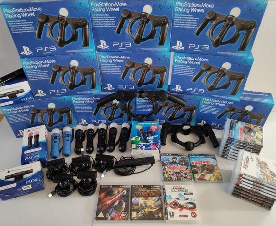 [ps3 ps4] НОВ Sony Move Racing Wheel за PlayStation 3/Волан/Рейсинг