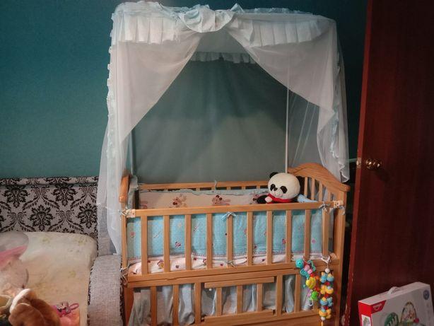 Кроватка+балдахин+люлька
