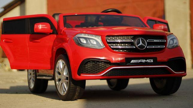 Masinuta electrica pentru 2 copii Mercedes GLS63 AMG 2x4 12V #Rosu