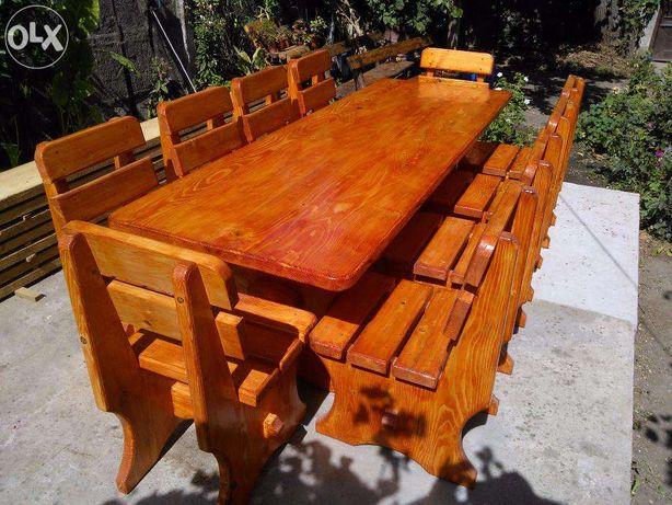 Masa cu scaune din lemn pentru gradina, terasa