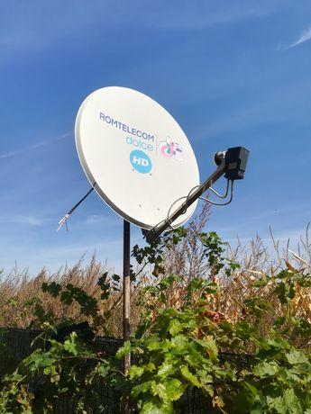 Antena satelit și reciever Telekom