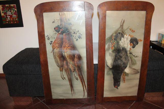 tablouri, tablou vechi pictat in acuarela, vanatoresti