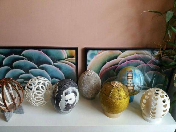 Декорация за Великден Щраусови яйца Щраусово яйце