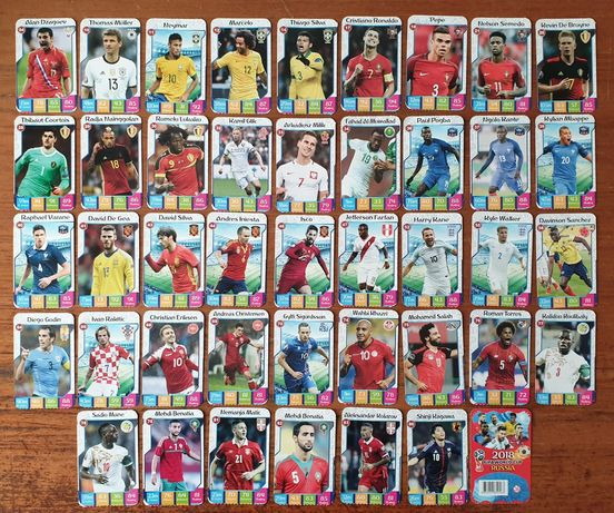 Vand / schimb set cartonase carduri fotbal FIFA World Cup Russia 2018