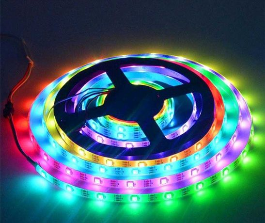 Лента RGB LED пиксел WS2812B 30 пиксела на метър IP30