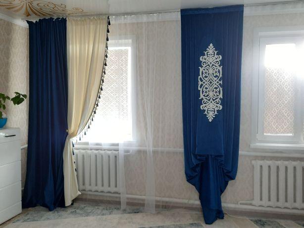 Продам шторы + панно, абсолютно новые