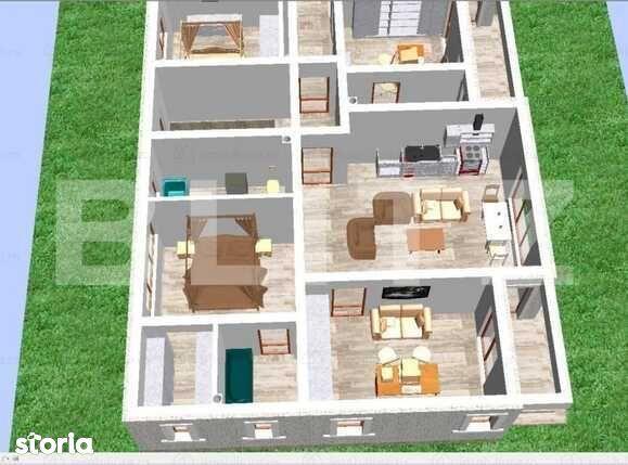 Apartament 71 mp + terasa 8 mp Tractorul , 3 camere , decomandat .
