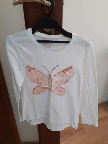 Tricouri albe cu mânecă lunga H&M,  LC Waikiki 7-8 ani