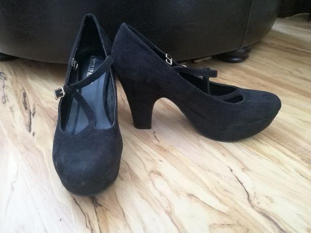Pantofi piele intoarsa model deosebit Tulipano Marimea 39