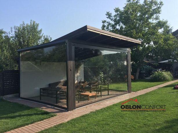 Inchideri terase cu folie transparenta