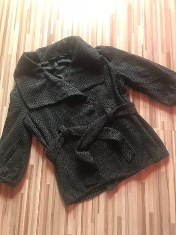 Сиво - черно палто с 3/4 ръкав
