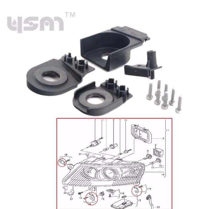 Kit reparatie urechi rupte far / faruri auto Audi A6 C6