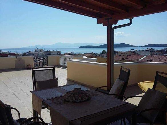 Апартамент Пандора с гледка море, 2 спални, 6 човека, Неа Перамос