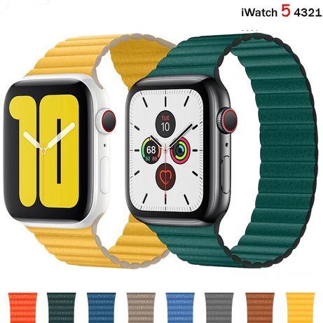 Curea Silicon Scai Metal Piele Ceas Apple Watch Seria 1 2 3 4 5 6 SE