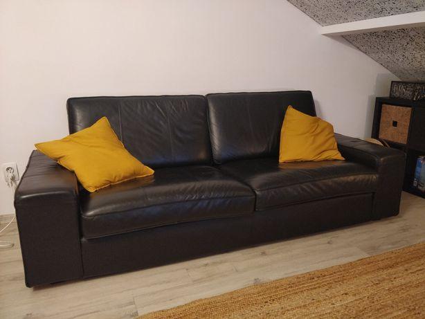 Vând canapea din piele Ikea KIVIK