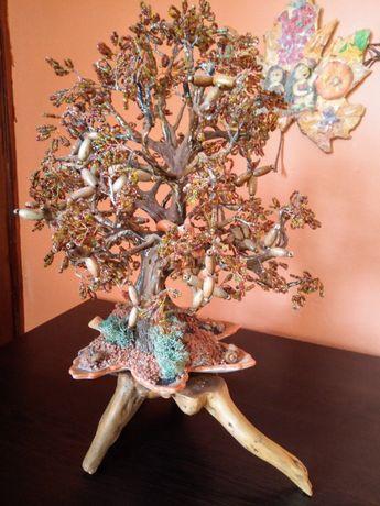 Дръвче - дъб от мъниста