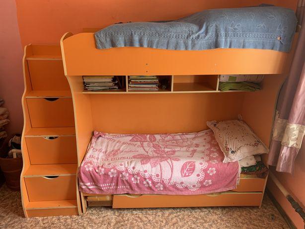 Детская мебель. Двухъяросная кровать