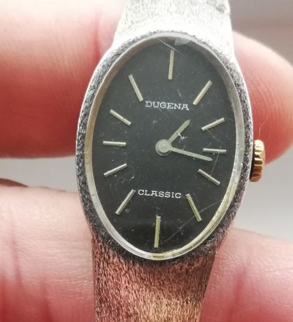 Dugena сребърен 0,800 дамски часовник