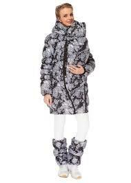 Куртка для беременных зимняя I love mum. Слингокуртка 3 в 1