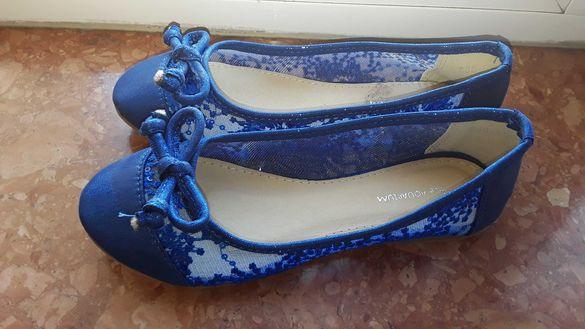 Красиви балеринки уникален син цвят 32 номер