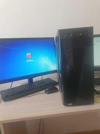 Компьютер - процессор, монитор, клавиатура и мышка