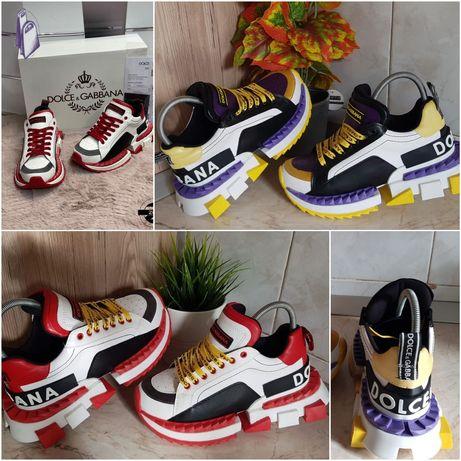 Adidasi Sneakers Dolce Gabbana Super King 2 Culori Unisex Marimi 36-40