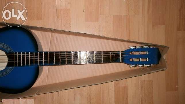 Chitara clasica incepatori si copii cloare albastru