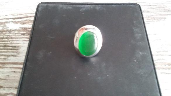 Сребърен пръстен с авантюрин