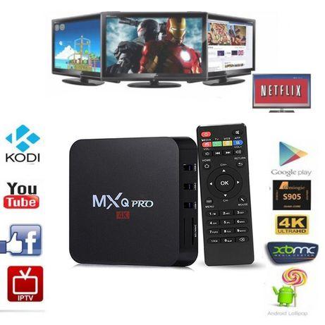 Тв бокс MXQ PRO с 2GB RAM, 16GВ ROM, WiFi, 4K + телевизии и филми