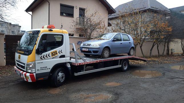 Tractari auto utilitare Transport utilaje Rampa auto Platforma hidraul